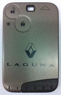 Renault key card for a Launa model